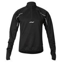 Laufoutlet - FROSTBREAKER Langarm Sweatshirt - Temperaturausgleichendes langarm Sweatshirt mit Reißverschluss - black