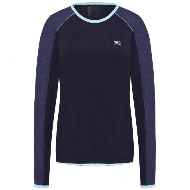 Laufoutlet - ADAINE Langarm Shirt - Atmungsaktives langarm Laufshirt aus recyceltem Polyester - admiral melange