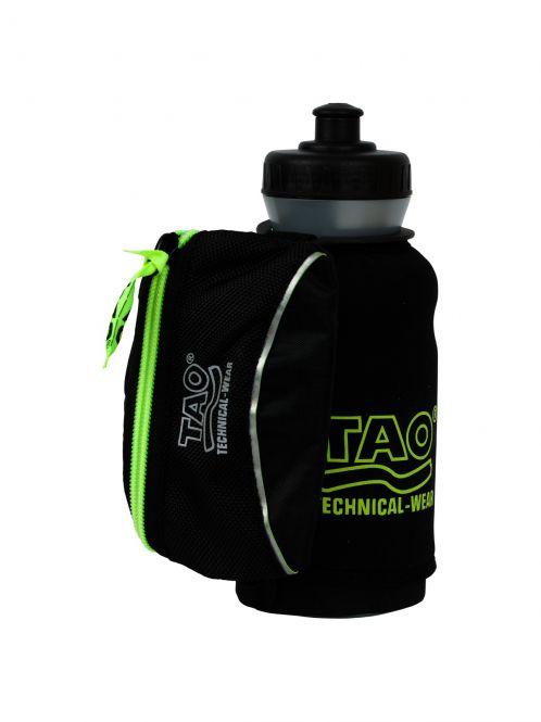 Laufoutlet - BOTTLE HOLDER Trinkflasche mit Halteschlaufe - Trinkflasche mit Halteschlaufe und kleiner Tasche - black/sirio