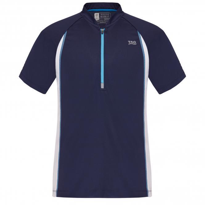 Laufoutlet - COLIAS Zip-Shirt - Atmungsaktives Zip-Shirt aus recyceltem Polyester - admiral/white
