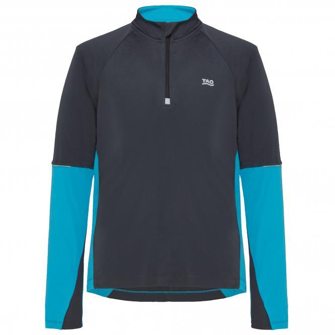 Laufoutlet - DAGLI Langarm Zipshirt - Warmes langarm Zip-Shirt miit Kragen und Zip aus recyceltem Polyester - titanium