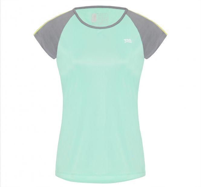 Laufoutlet - DEVORA T-Shirt - Atmungsaktives und elastisches Laufshirt aus recyceltem Polyester - neo mint