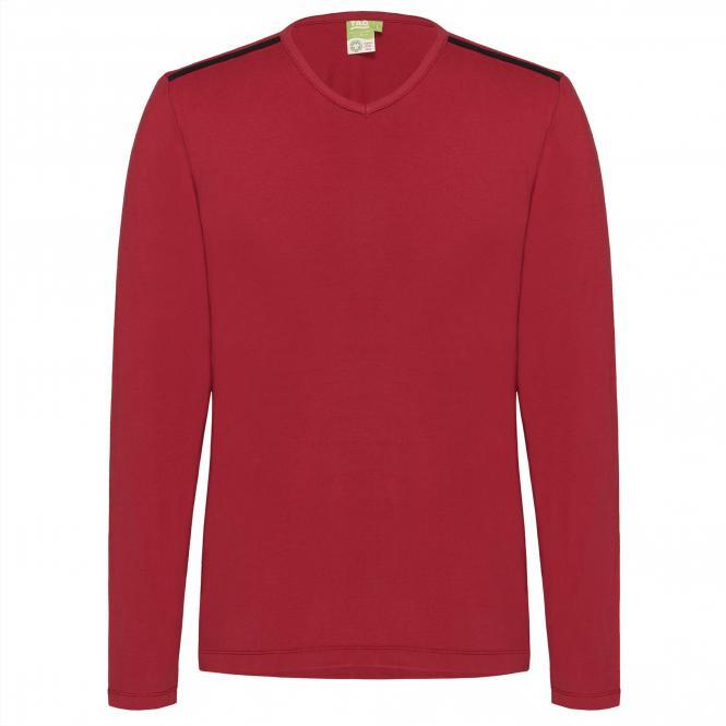 Laufoutlet - ECKY Langarm Shirt - Langarm Shirt aus Bio-Baumwolle mit weichen Nähten - dark red