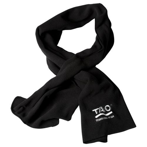 Laufoutlet - FLEECE SCARF Funktionsschal aus Fleece - Winterschal aus Fleece mit eingesticktem TAO-Logo - black