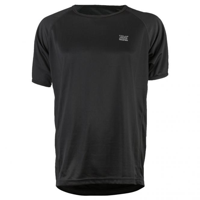Laufoutlet - IQ T-Shirt - Schnelltrocknendes kurzarm Funktionsshirt - black