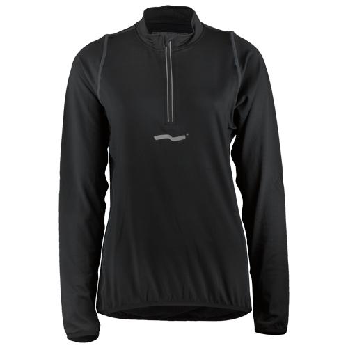Laufoutlet - PULSE Zip-Shirt - Atmungsaktives Laufshirt mit Zip-Garage - black