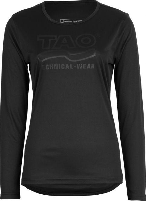 Laufoutlet - WEGA Langarm Laufshirt - Atmungsaktives Langarm Laufshirt mit Prägedruck - black