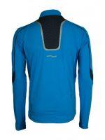 Laufoutlet - CHILLY Langarm Zipshirt - Atmungsaktives langarm Laufshirt mit integriertem UV-Schutz und antibaktiereller Ausrüstung - neon blue