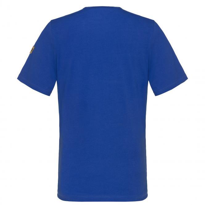 Laufoutlet - ANDI Kurzarm Freizeitshirt - Bequemes kurzarm Freizeitshirt aus Bio-Baumwolle - royal