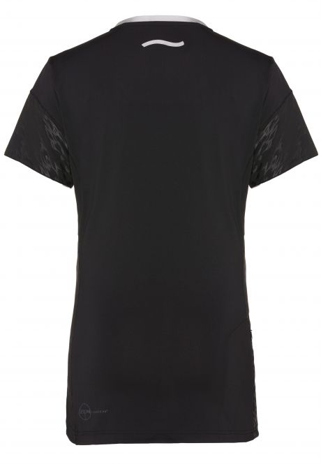 Laufoutlet - BASELINE Kurzarm Laufshirt - Weiches, elastisches Basic Laufshirt mit Zip-Tasche und Reflektoren - black