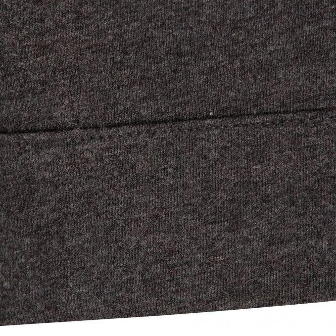 Laufoutlet - BIBI Langarm Shirt - Langarm Freizeitshirt mit Tunnelzug im Bund aus Bio-Baumwolle - graphit melange
