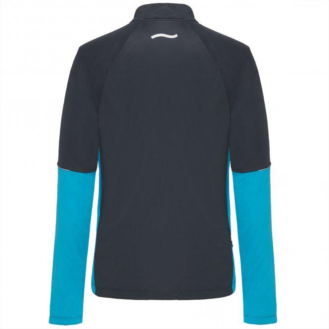 Laufoutlet - DAGLI Langarm Laufshirt mit Zip - Warmes langarm Zip-Laufshirt mit Kragen und Zip aus recyceltem Polyester - titanium