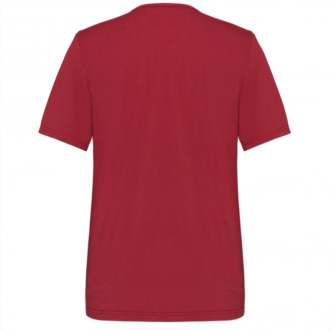 Laufoutlet - EDDY Kurzarm Freizeitshirt - Kurzarm Shirt aus Bio-Baumwolle mit weichen Nähten - dark red