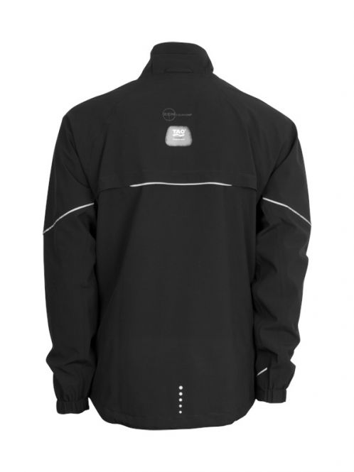 Laufoutlet - ILLUMINATOR Wasserdichte Laufjacke - Wasserdichte Zip-Jacke mit LED Lichtern - black