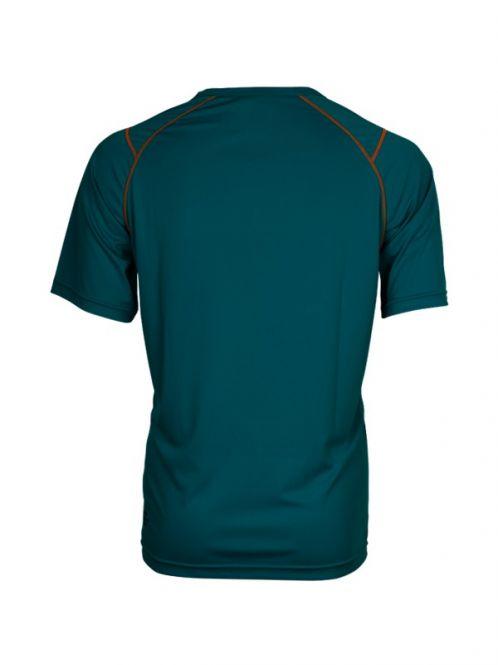 Laufoutlet - LAPSTYLE Kurzarm Laufshirt - Atmungsaktives kurzarm Funktionsshirt mit Reflektoren - lagoon