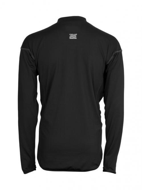 Laufoutlet - LONGSLEEVE Langarm Zipshirt - Atmungsaktives langarm Funktionsshirt mit Reißverschluss - black