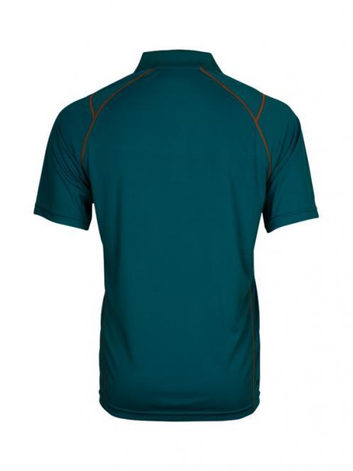 Laufoutlet - TEALSTYLE Kurzarm Poloshirt - Atmungsaktives kurzarm Poloshirt - lagoon