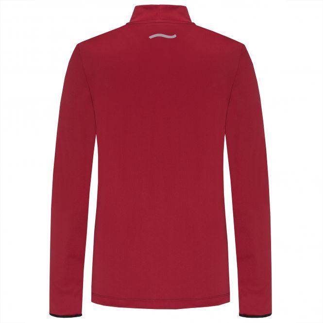 Laufoutlet - YUKI Langarm Laufshirt - Warmes Langarm Laufshirt mit Stehkragen aus recyceltem Polyester - dark red/new devil