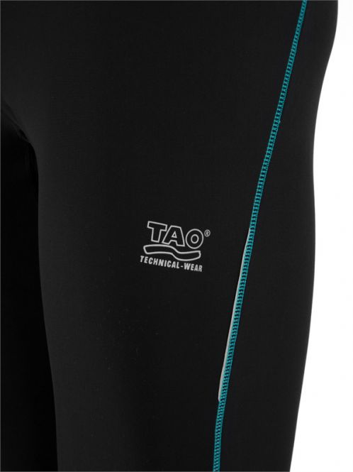 Laufoutlet - ACCELERATION Funktionstight - Atmungsaktive Lauftight mit festellbarem Reißverschluss und Anti-Rutsch-Gummi im Saum - black/true navy print