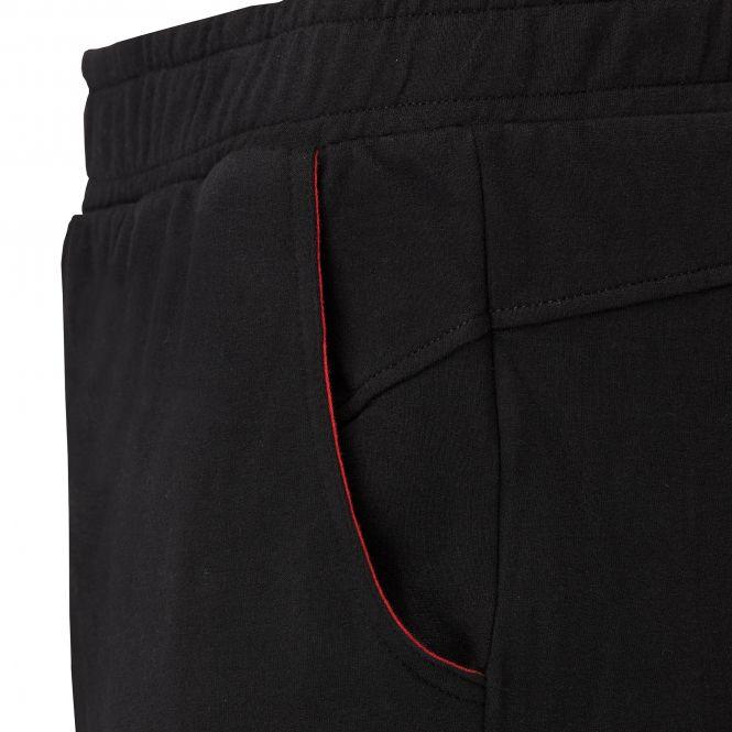 Laufoutlet - ERIK Warme Freizeithose - Warme Freizeithose aus Bio-Baumwolle mit farblichen Akzenten - black