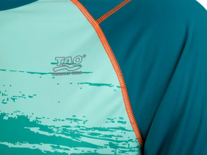 Laufoutlet - LAPSTYLE Kurzarm T-Shirt - Atmungsaktives kurzarm Funktionsshirt mit Reflektoren - lagoon