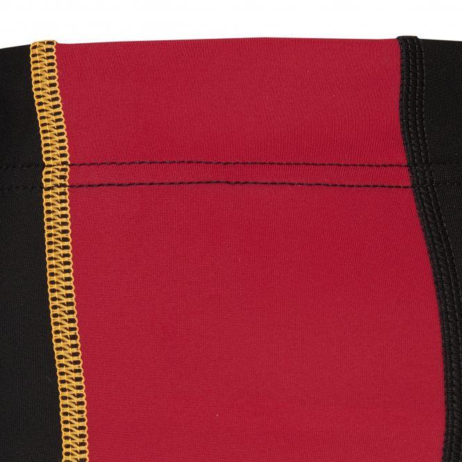 Laufoutlet - NIEVES Warme Lauftight - Wärmende Lauftight mit Reißverschlüssen und Reflektoren aus recyceltem Polyamid - black/dark red