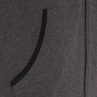 Laufoutlet - EGON Warme Freizeitjacke - Warme Freizeitjacke mit Kapuze aus Bio-Baumwolle - graphit melange
