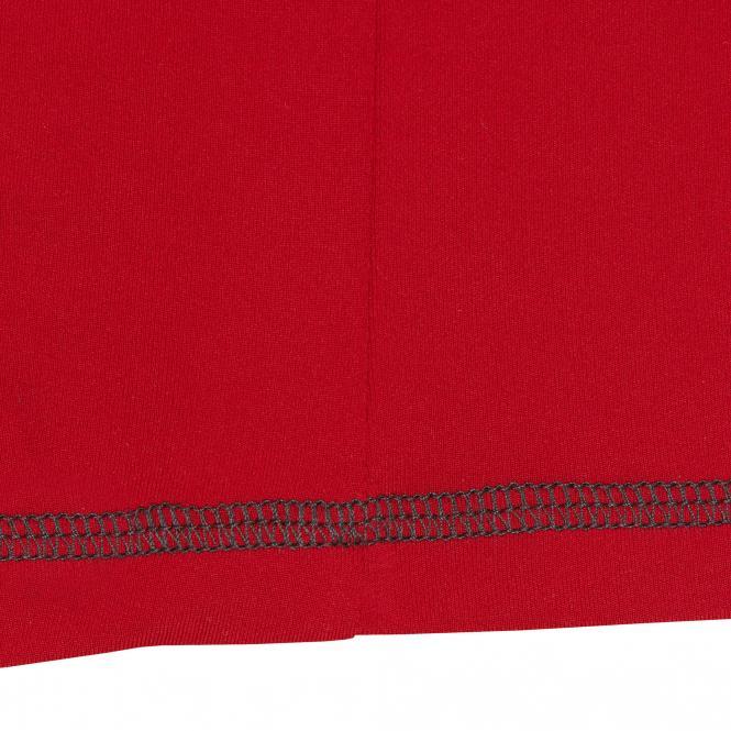 Laufoutlet - AMNO Kurzarm T-Shirt - Atmungsaktives Laufshirt aus nachhaltigem Polyamid - rubin