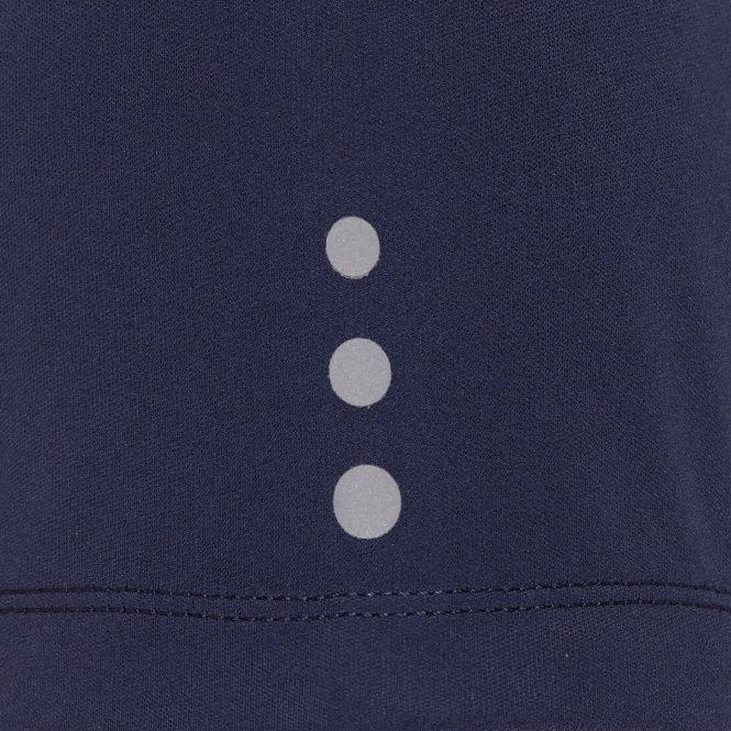 Laufoutlet - COLIAS Laufshirt mit Zip - Atmungsaktives Zip-Shirt aus recyceltem Polyester - admiral/white