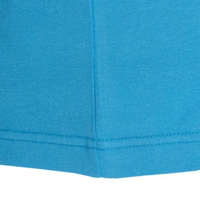 Laufoutlet - DANI Kurzarm Freizeitshirt - Bequemes Freizeitshirt aus Bio-Baumwolle mit dezentem TAO-Korkemblem - pacifico