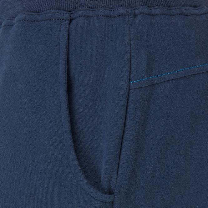 Laufoutlet - DARIO Freizeithose - Bequeme Freizeithose mit elastischem Bund- und Beinabschluss aus Bio-Baumwolle - navy