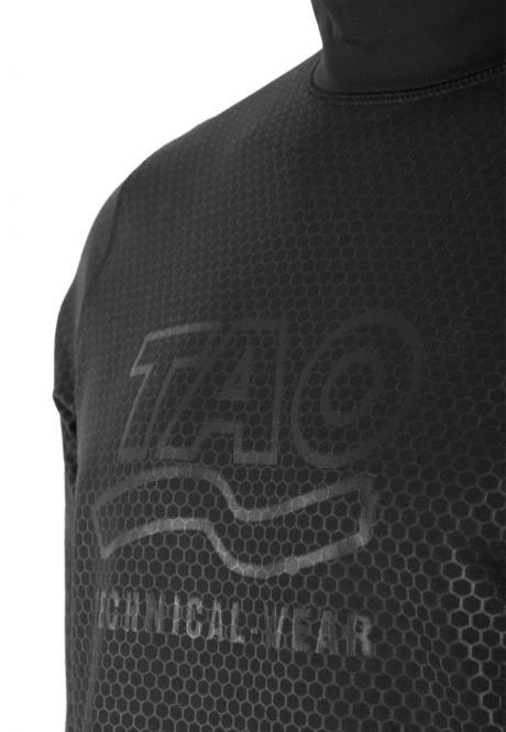 Laufoutlet - NEOTEC Warmes Funktionsshirt - Stark windabweisendes und wärmendes langarm Funktionsshirt mit Waben-Optik - black