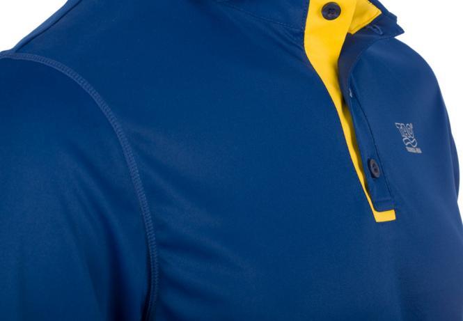 Laufoutlet - SMARTBLUE Kurzarm Poloshirt - Kurzarm Poloshirt mit weichen, flachen Nähten - estate blue