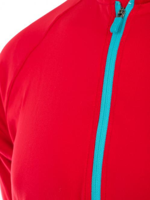 Laufoutlet - SUPRASONIC Kurzarm Zip-Shirt - Kurzarm Zip-Shirt mit integriertem UV-Schutz - red coat