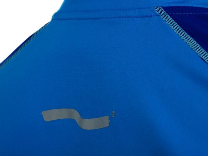 Laufoutlet - ZIP SHIRT Kurzarm T-Shirt - Atmungsaktives kurzarm T-Shirt mit Zippverschluss - bali/cobalt